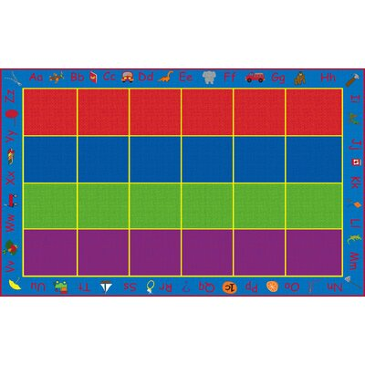 ABC Rainbow Seating Area Rug Rug Size: Rectangle 76 x 12