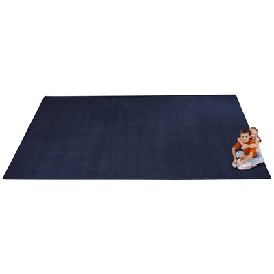 KidTastic Dark Blue Area Rug Rug Size: Rectangle 12' x 18'