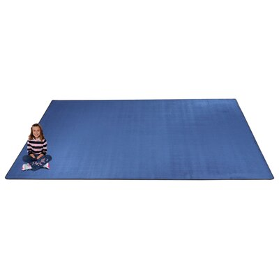 KidTastic Light Blue Area Rug Rug Size: Square 12