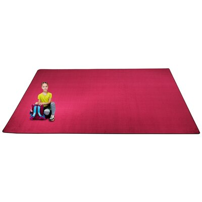 KidTastic Magenta Area Rug Rug Size: Rectangle 12 x 18
