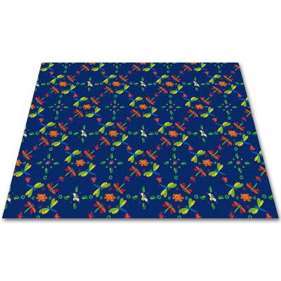Dragonflies Play Area Rug Rug Size: Rectangle 6 x 12