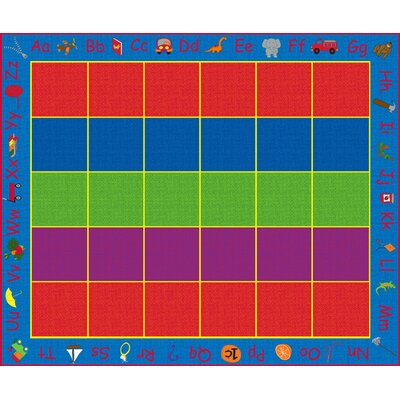 ABC Rainbow Seating Area Rug Rug Size: Rectangle 10 x 12