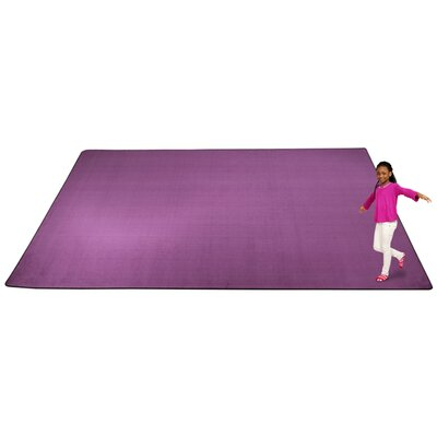 KidTastic Purple Area Rug Rug Size: Rectangle 12 x 18