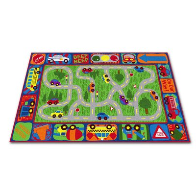 Driving Road Area Rug Rug Size: Rectangle 76 x 12