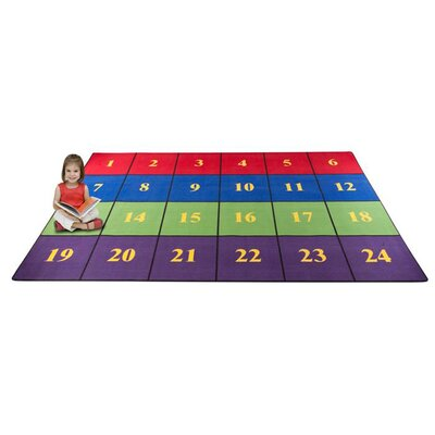 Classroom Seating Squares Area Rug Rug Size: Rectangle 76 x 12