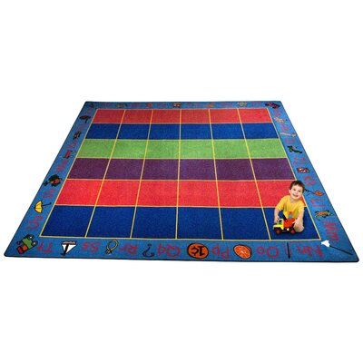 ABC Rainbow Seating Area Rug Rug Size: Square 12