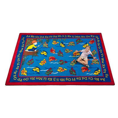 Lazy River Fish Kids Rug Rug Size: 6 x 86