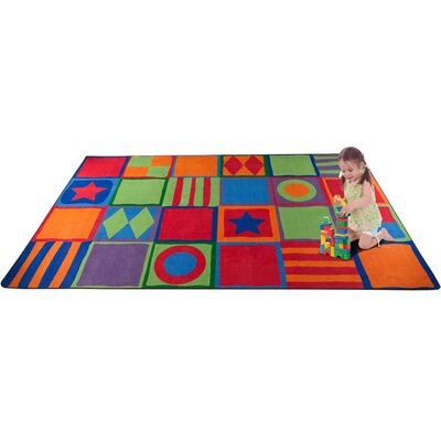 Patterned Squares Area Rug Rug Size: 4 x 6