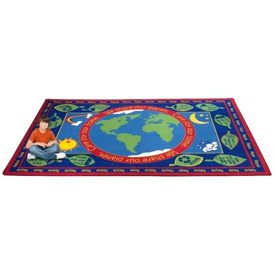 Earth Educational World Area Rug Rug Size: Rectangle 6 x 86