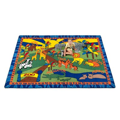 Animals at the Zoo Area Rug Rug Size: 4 x 6