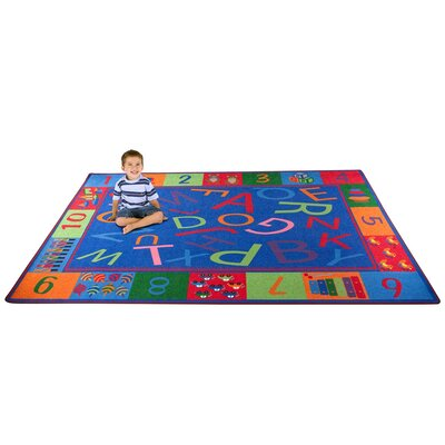 Alphabet and Numbers Teaching Toddler Area Rug Rug Size: 76 x 12