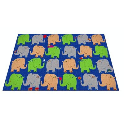 Elephant Seating Classroom Area Rug Rug Size: Rectangle 6 x 86