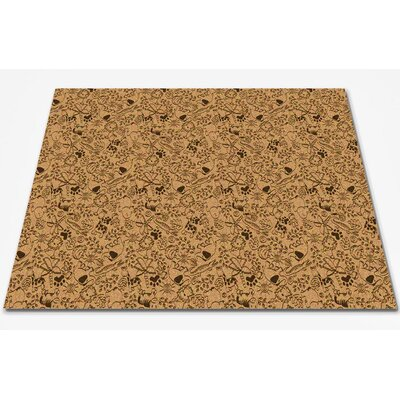 Animal Doodles Brown/Tan Area Rug Rug Size: Square 6