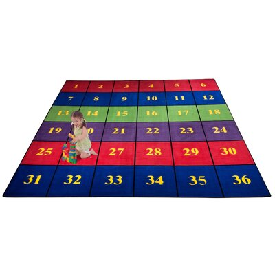 Classroom Seating Squares Area Rug Rug Size: Square 12