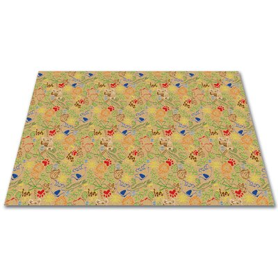 Animal Doodles Tan Area Rug Rug Size: Square 6