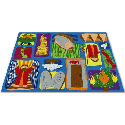 Moses Sunday School Kids Rug Rug Size: Rectangle 4' x 6'