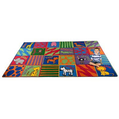 Animal Squares Area Rug Rug Size: 4 x 6