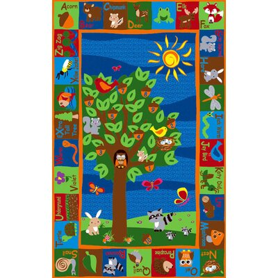 Forest Animal Alphabet Multi Colored Area Rug Rug Size: Rectangle 6 x 86