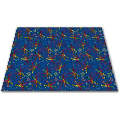 Crayon Scribbles Kids Rug Rug Size: Rectangle 6 x 9