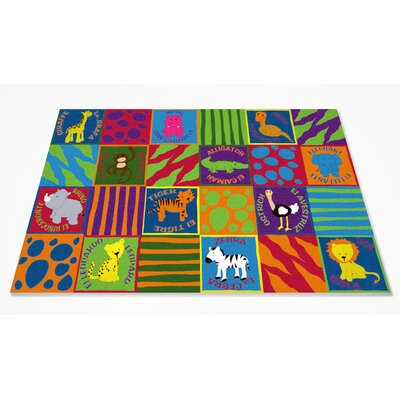 Bilingual Animals School Area Rug Rug Size: 4 x 6