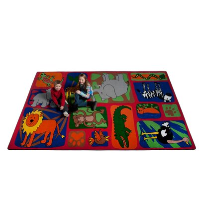 My Buddies in The Jungle Area Rug Rug Size: 6 x 86