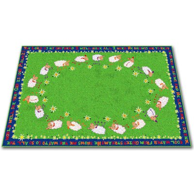 Little Lambs of God Circle Time Kids Rug Rug Size: 76 x 12