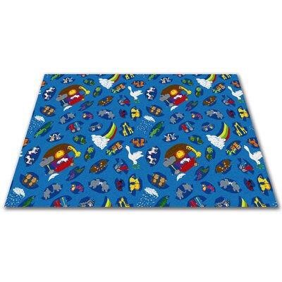 Noahs Animal Friends Area Rug Rug Size: Square 12