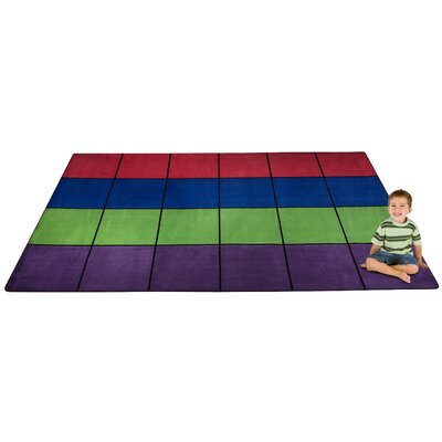 Blocks Seating Area Rug Rug Size: Rectangle 76 x 12