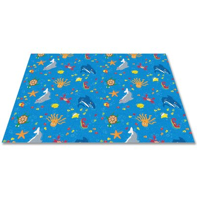 Ocean Friends Area Rug Rug Size: Rectangle 6 x 9