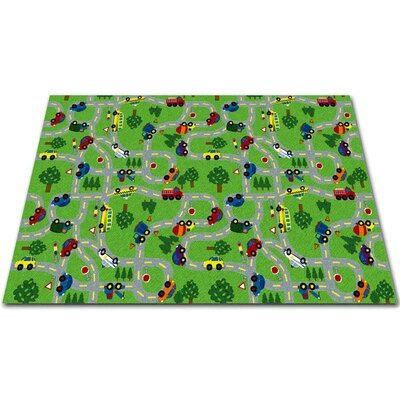 On The Go Green Indoor/Outdoor Area Rug Rug Size: Square 12
