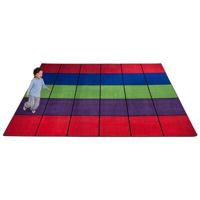 Blocks Seating Area Rug Rug Size: Rectangle 10 x 12