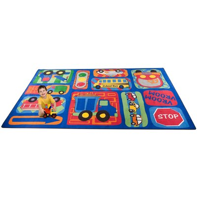 Vroom Vroom Car Play Area Rug Rug Size: Rectangle 4 x 6