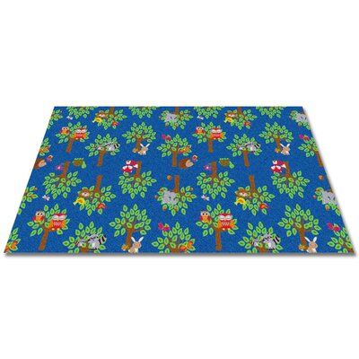 Woodland Wonders Animal Blue/Green Area Rug Rug Size: Square 12