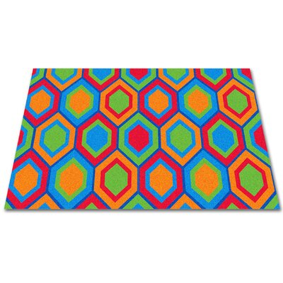 Sitting Hexagons Area Rug Rug Size: Rectangle 12 x 16