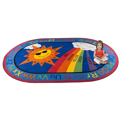 Skys the Limit Learning Area Rug Rug Size: Oval 76 x 12