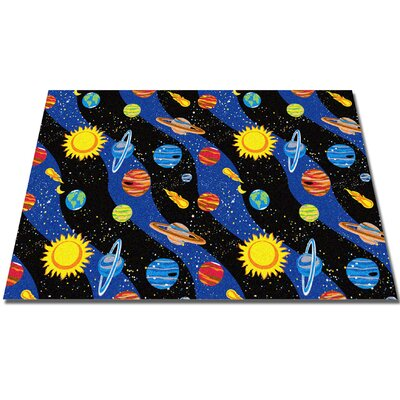 Solar System Area Rug Rug Size: Rectangle 4 x 6