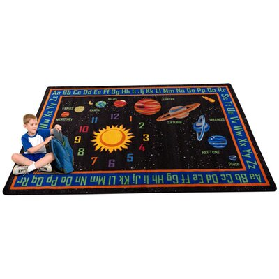 Outer Space Black Area Rug Rug Size: 6' x 8'6