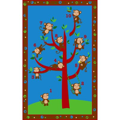 Ten Little Monkeys Area Rug Rug Size: Rectangle 4 x 6