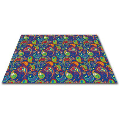 Paisley with ABC Indoor/Outdoor Area Rug Rug Size: Square 6