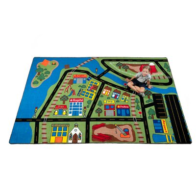 Total Transportation Play Town Area Rug Rug Size: Rectangle 4' x 6'