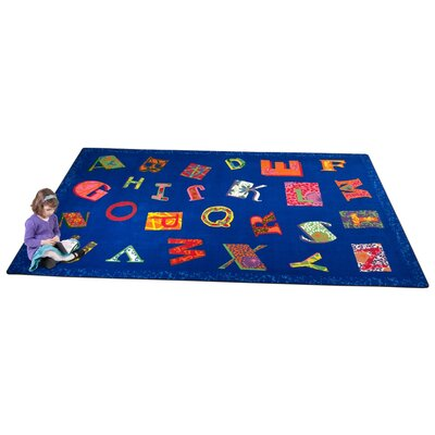 Patchwork ABC Blue Area Rug Rug Size: 76 x 12