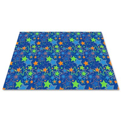 Blue Seating Stars Area Rug Rug Size: Rectangle 12 x 18