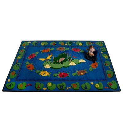 Turtle Circle Time Area Rug Rug Size: Rectangle 76 x 12