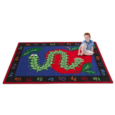 Learn with Inchworm Kids Rug Rug Size: Rectangle 76 x 12