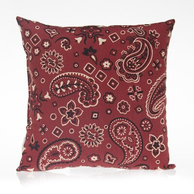 Happy Trails Bandana Cotton Throw Pillow
