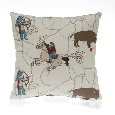 Happy Trails Cowboy Cotton Throw Pillow