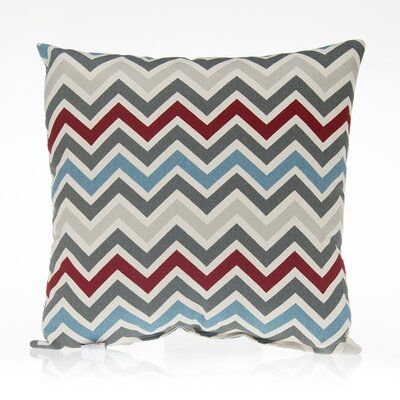 Happy Trails Chevron Cotton Throw Pillow