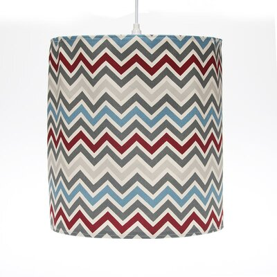 Happy Trails Hanging 14 Fabric Drum Pendant Shade