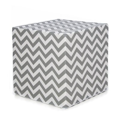 Swizzle Decorative Cube Ottoman Upholstery: Gray