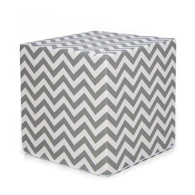 Swizzle Decorative Pouf Ottoman Upholstery: Gray